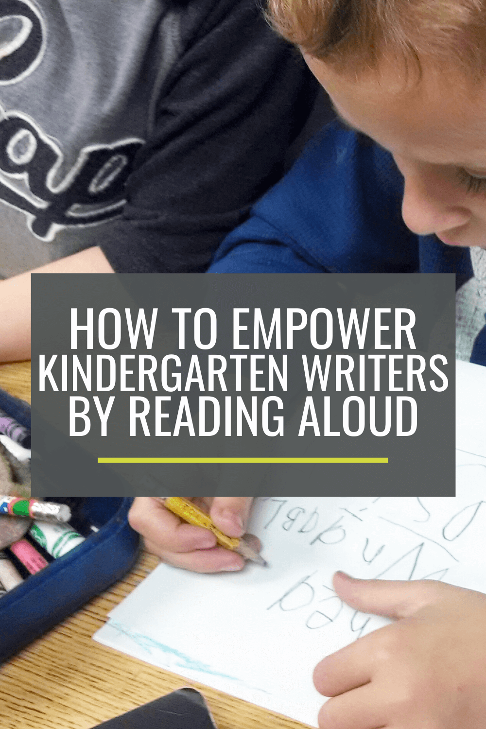 How to Empower Kindergarten Writers By Reading Aloud