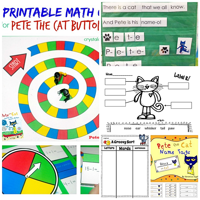 Free Downloads for Pete the Cat Kindergarten - KindergartenWorks