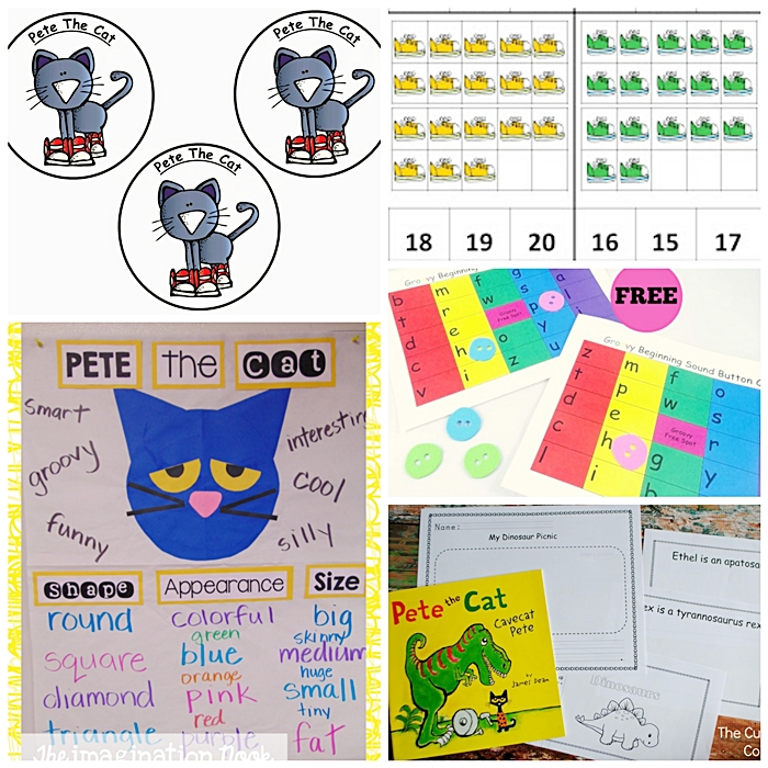 Pete the Cat Games and Ready to Go Resources - KindergartenWorks