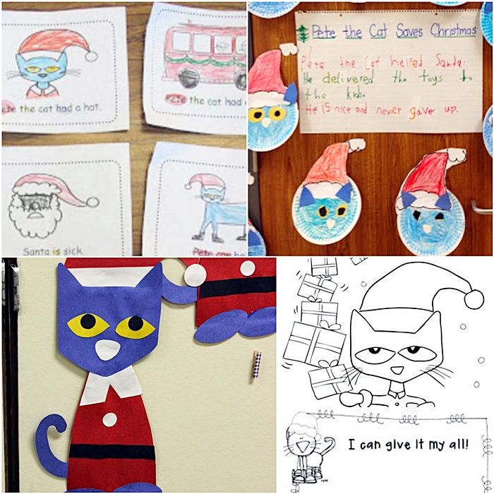 Pete the Cat Saves Christmas Free Printables Crafts