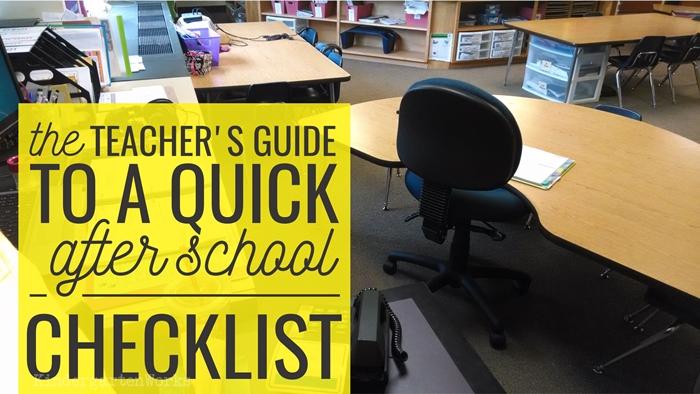 The Kindergarten Teacher's Guide to a Quick After School Checklist :: KindergartenWorks