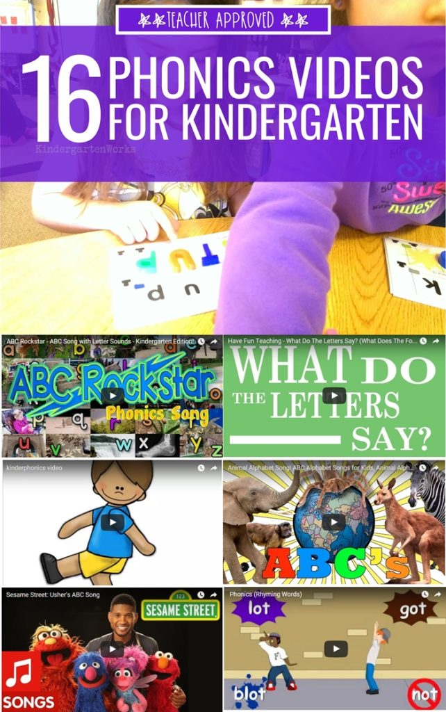 16 Quick Phonics Videos For Kindergarten Kindergartenworks