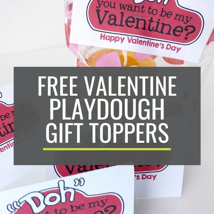 Valentine's Day Playdough Gift Toppers