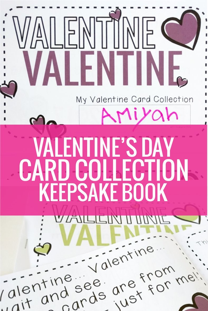 Valentine's Day Card Collection Book - perfect for our class party