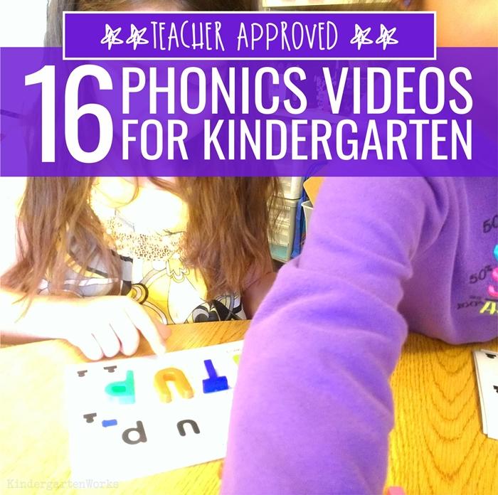YouTube Phonics Videos for Kindergarten