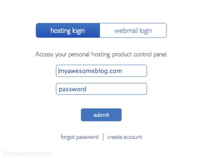 how to login to bluehost