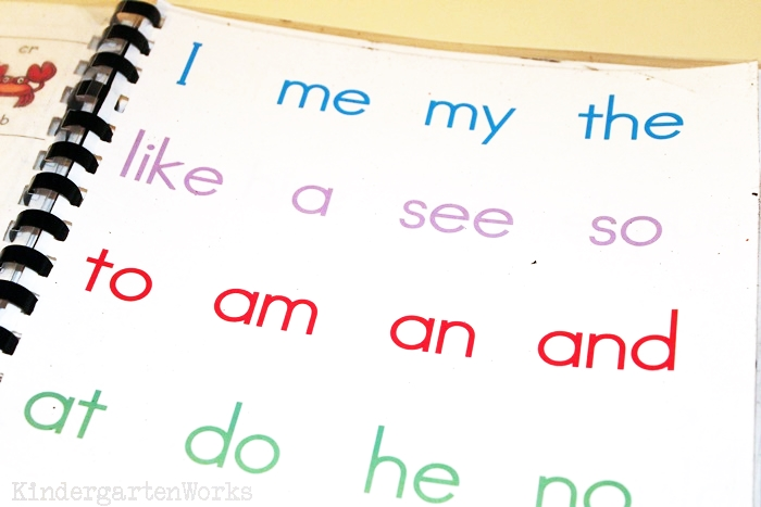 5 Easy Mini-Lessons to Teach Sight Words - Sight Words for Kindergarten 24 Words List - KindergartenWorks