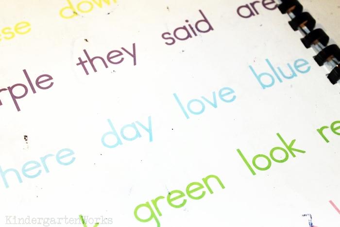 Handy Guided Reading Mats for Kindergarten Groups - Sight Words for Kindergarten 24 Words List - KindergartenWorks