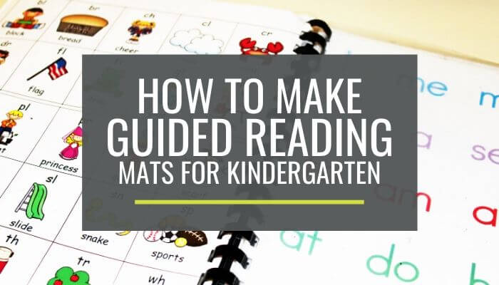 Something I wish I would've done earlier in my teaching career... create these Handy Guided Reading Mats for kindergarten groups