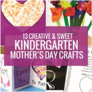 13 Creative and Sweet Kindergarten Mother's Day Crafts