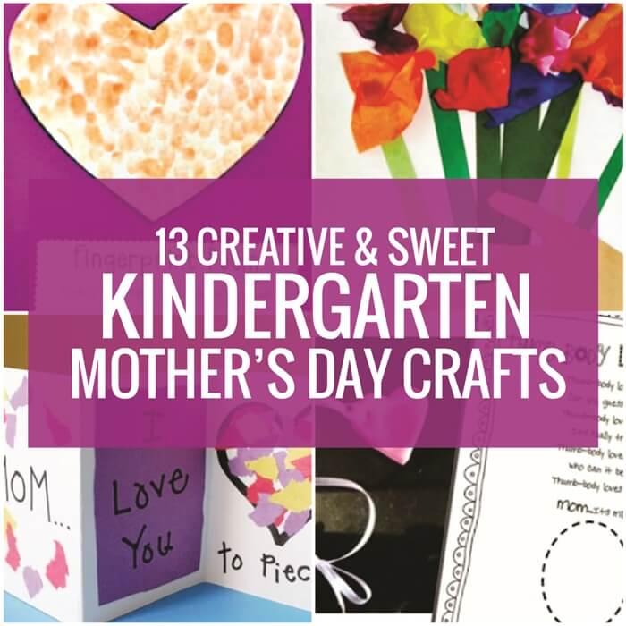 13 Easy Kindergarten Mother's Day Crafts