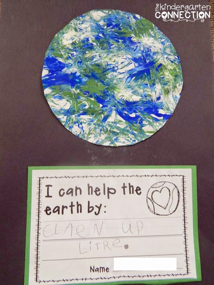 18 Last Minute Earth Day Ideas Earth Day Marble Painting - KindergartenWorks
