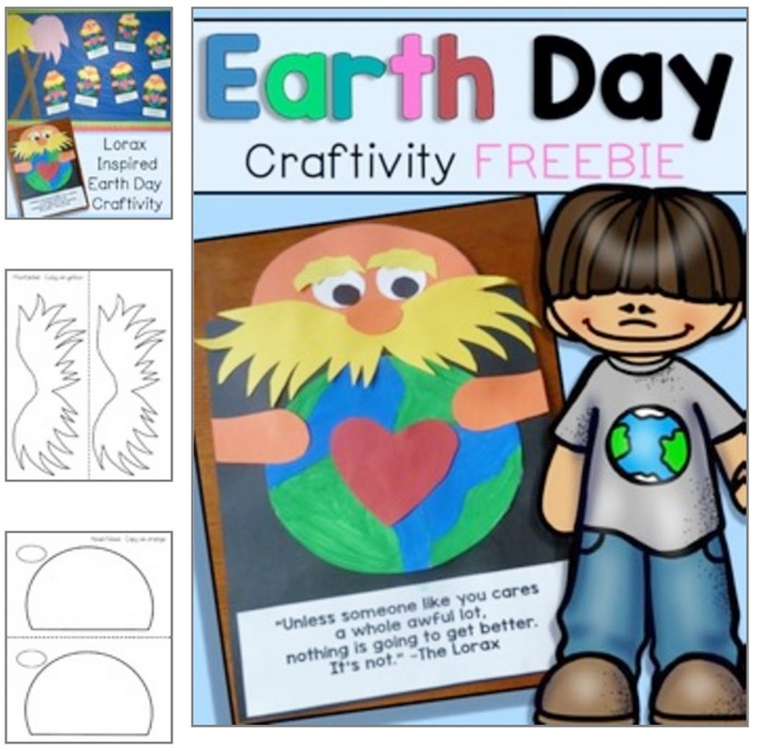 18 Last Minute Earth Day Ideas Lorax Inspired Earth Day Craft Free - KindergartenWorks