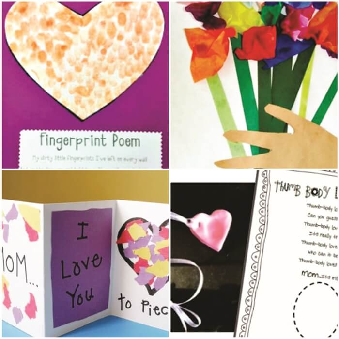 13Creative and Sweet Kindergarten Mother's Day Crafts - Gift they can do by themselves - KindergartenWorks