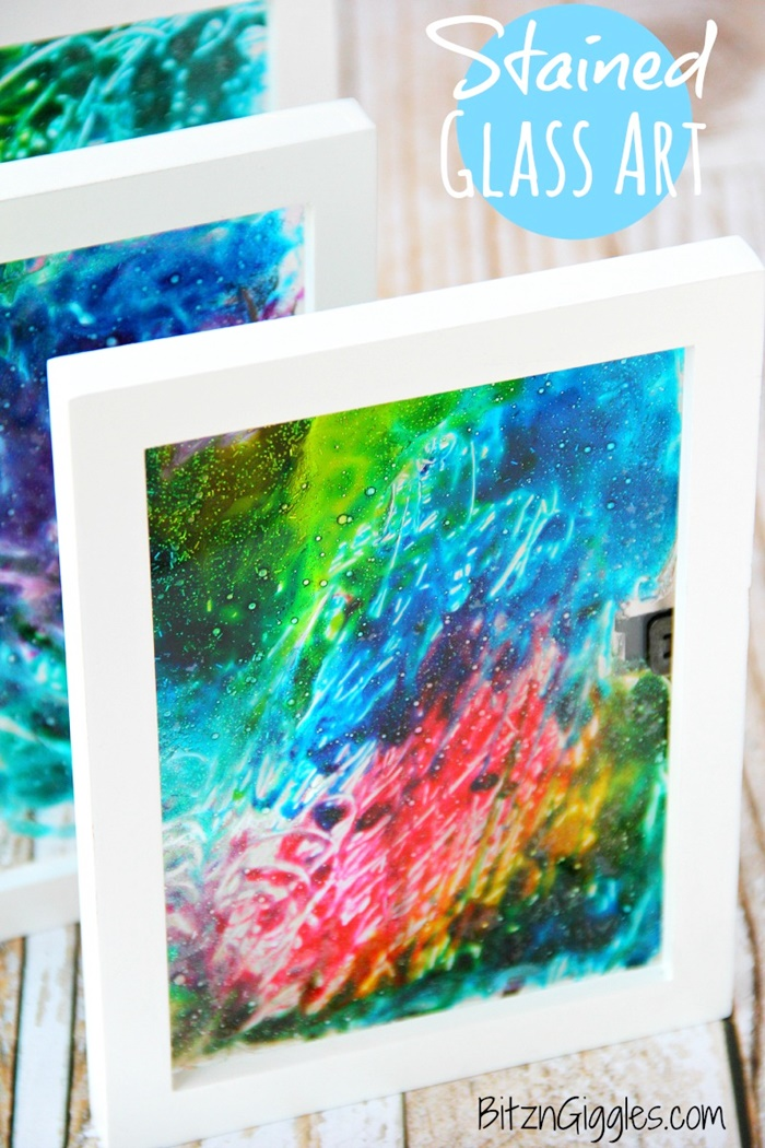 13 Creative and Sweet Kindergarten Mother's Day Crafts - Faux Stained Glass - KindergartenWorks