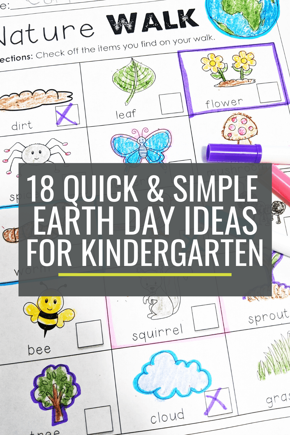 18 Quick and Simple Earth Day Ideas for Kindergarten