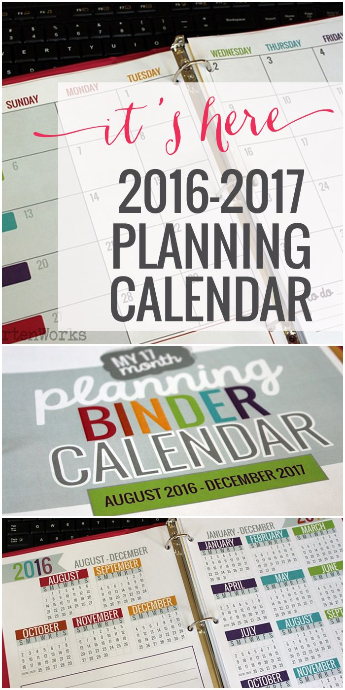 Teacher Printable Calendar 2016-2017 Planning