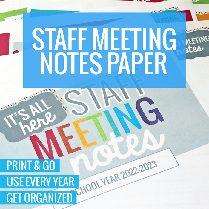 Staff Meeting Notes Paper