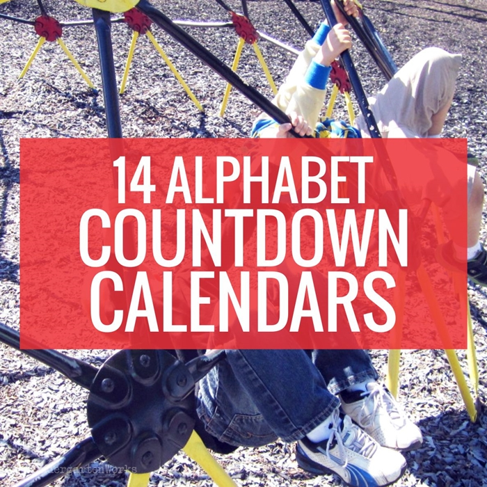 14 ABC Countdown Calendars - KindergartenWorks