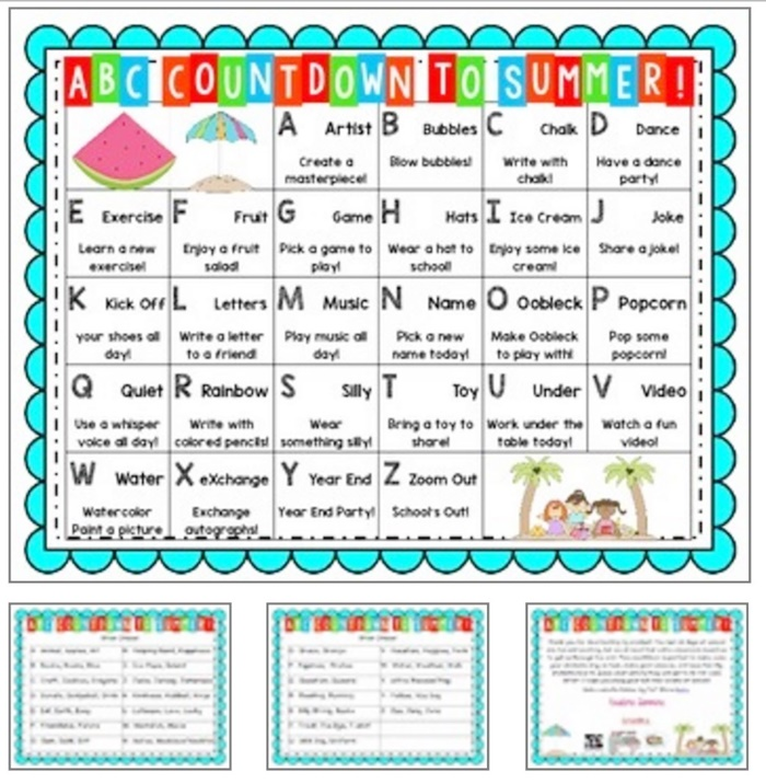 Kindergarten Year Calendar : Alphabet countdown calendars here comes the end of