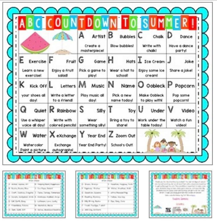 14 ABC Countdown Calendars - alphabet countdown kindergarten - KindergartenWorks