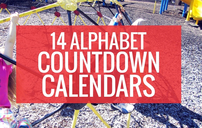 14 Alphabet Countdown Calendars for Kindergarten - countdown to the end of the school year