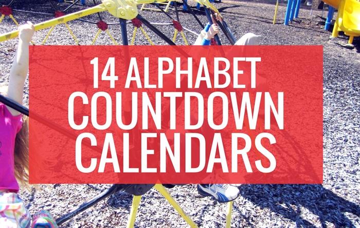 14 Alphabet Countdown Calendars for Kindergarten