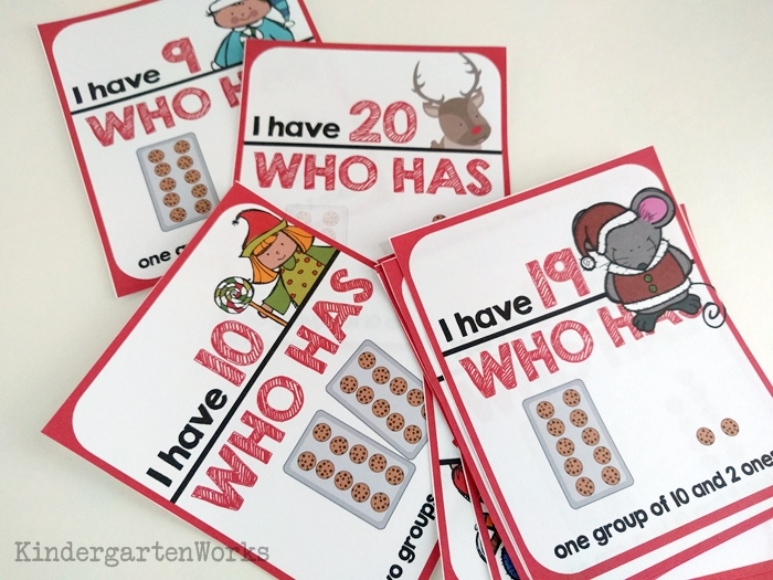 Christmas Teen Numbers I Have Who Has Card Game {Free Printable}