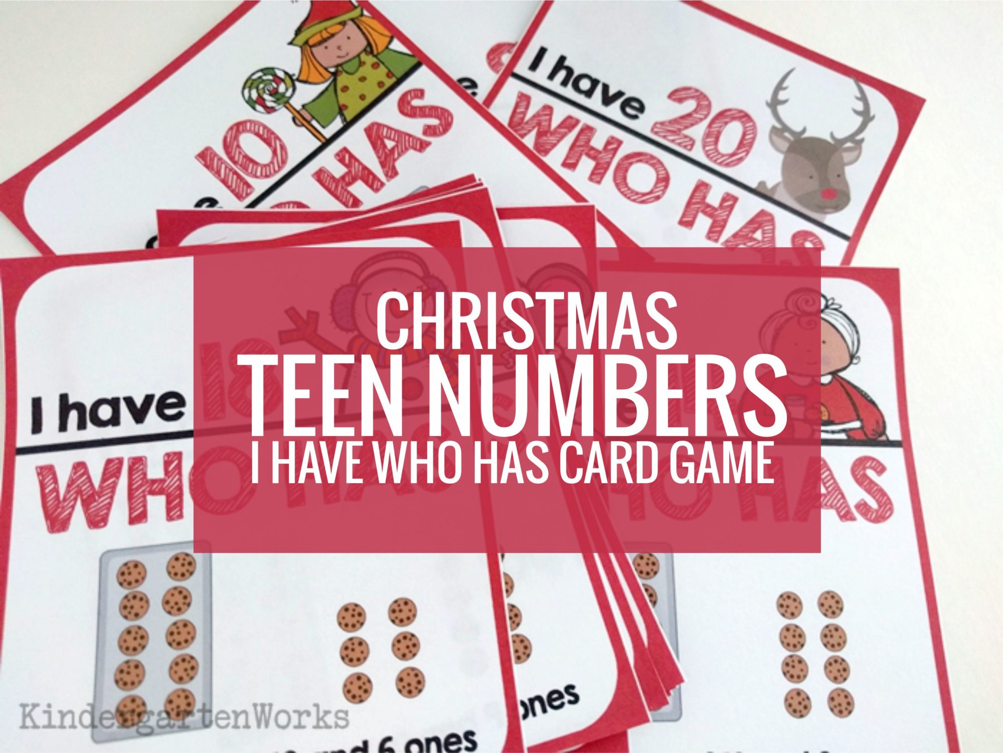 Christmas Teen Numbers I Have Who Has Card Game