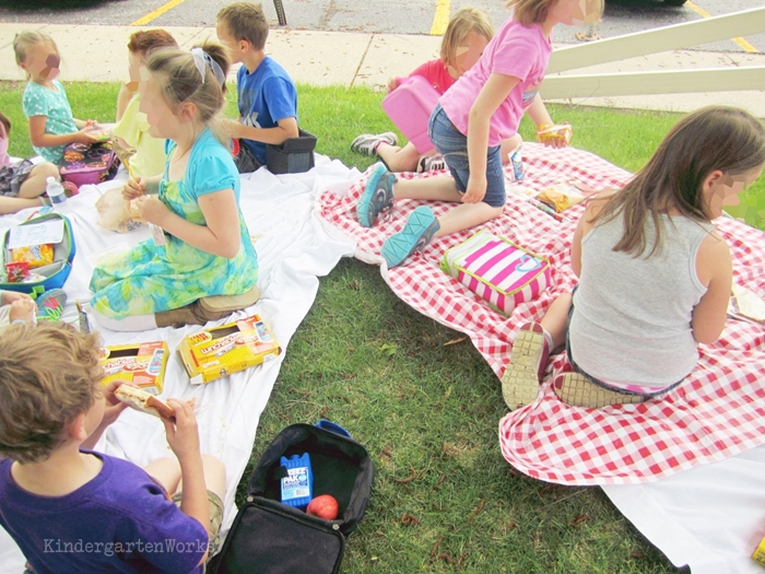 End of the Year Celebrations for Kindergarten - have a picnic