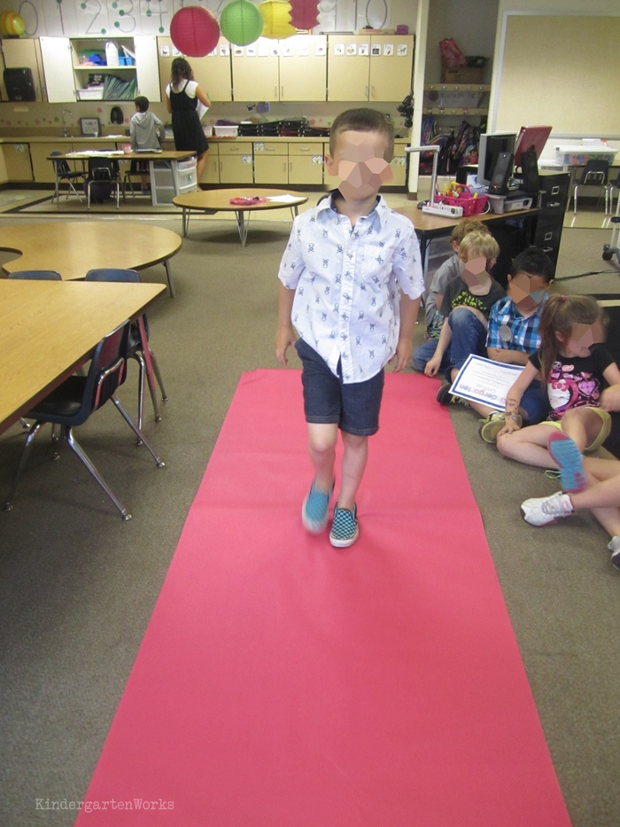 End of the Year Celebrations for Kindergarten - mini red carpet ceremony - no pressure