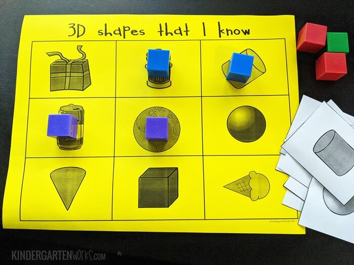 How to play bingo with 3D shapes