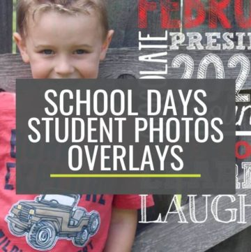 Make Monthly Portfolio Photos of Your Students With These Overlays