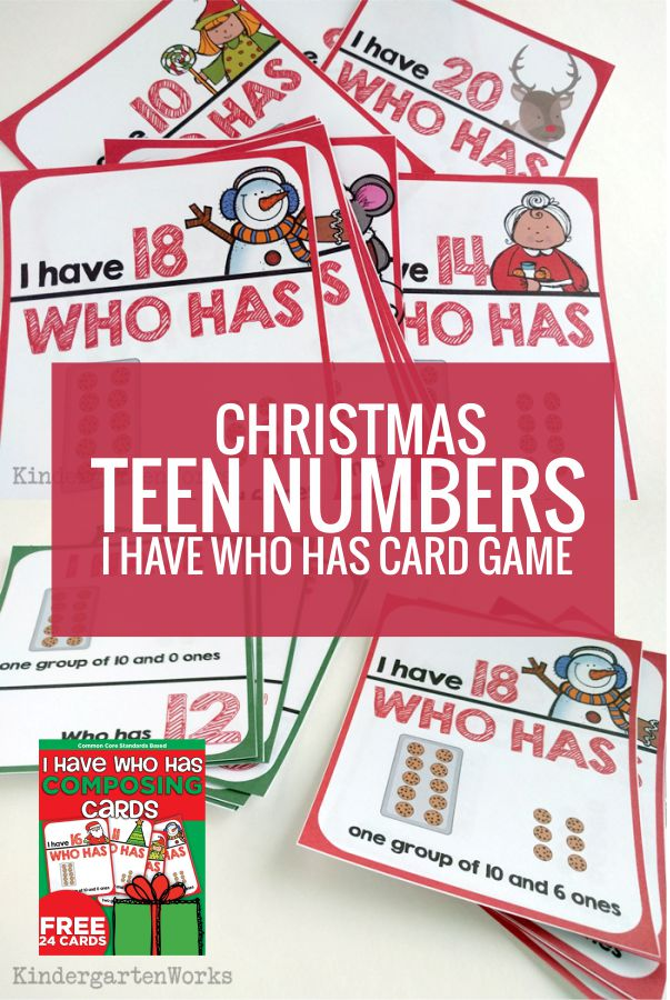 Teen Numbers I Have Who Has Card Game Free Download