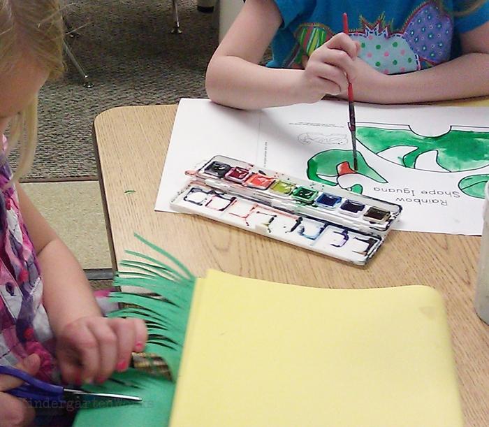 Zoo animal writing project for kindergarten