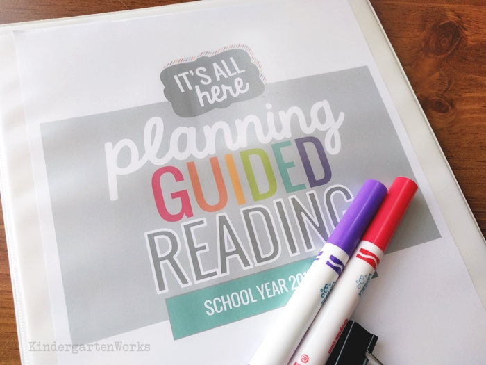 Cute Printable Teacher Binder Covers - planning guided reading