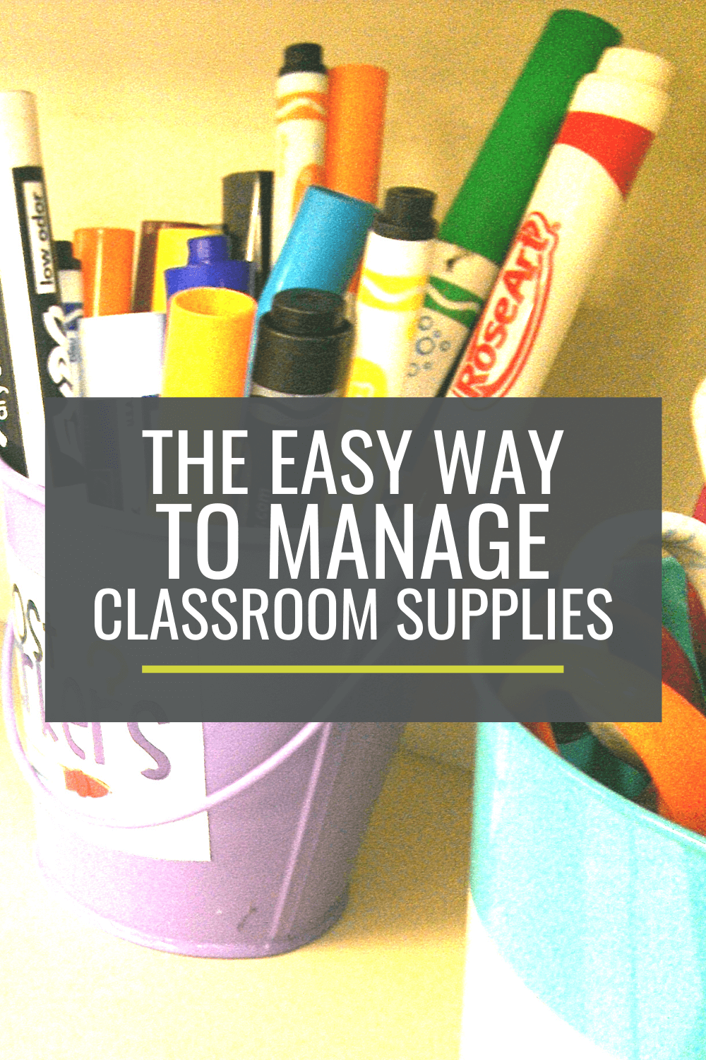 The EASY way to organize classroom supplies - this is so brilliant I can\'t believe I haven\'t always done this!