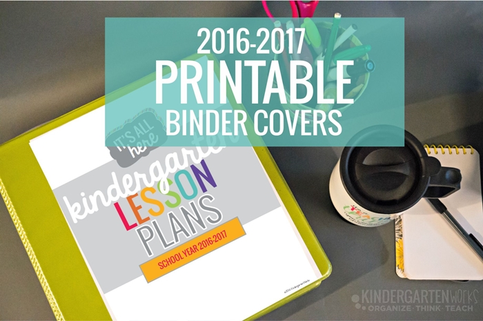 Printable teacher planning binder covers for 2016-2017 - I'm in love with these