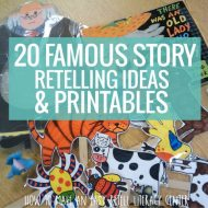 Retell Literacy Center {20 Famous Story Retelling Ideas and Printables}