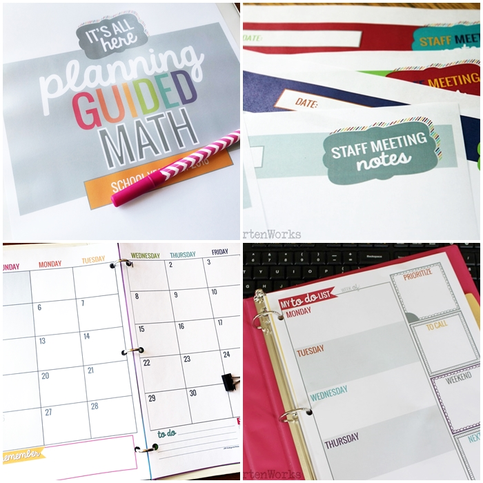 Teacher organization - easy printable stuff that's beautiful