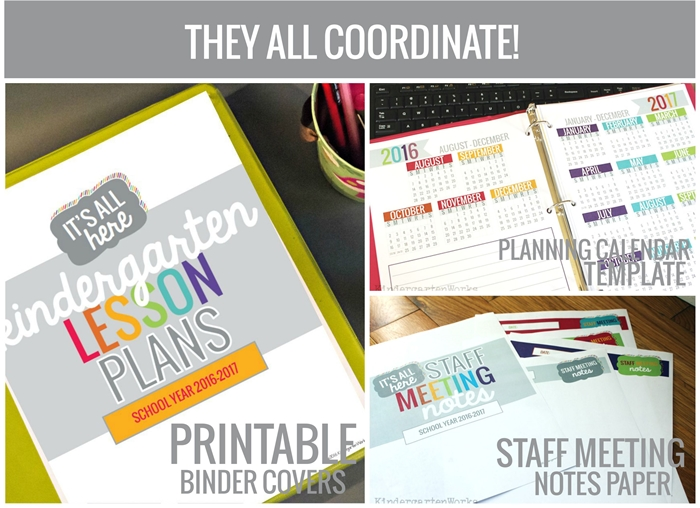 Teacher organization printables that are easy to use and efficient too