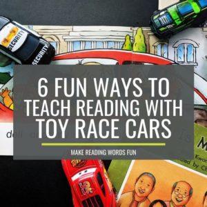 6 Fun Ways to Teach Reading in Kindergarten With Dollar Tree Race Cars