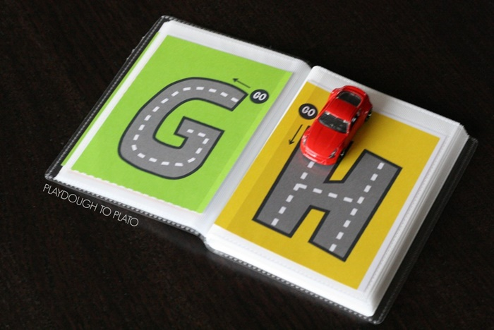 6 Fun Ways to Teach Reading in Kindergarten With Dollar Tree Race Cars - Letter Tracing Cards