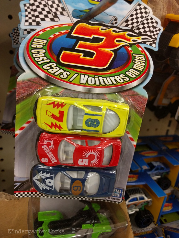 What To Buy for Classroom at Dollar Tree - Race Cars for Blending CVC Words