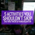 5 Activities You Shouldn't Skip the First Week of Kindergarten - this makes sense