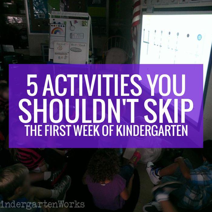 5 Activities You Shouldn T Skip The First Week Of Kindergarten
