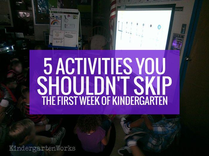 5 Activities You Shouldn't Skip the First Week of Kindergarten