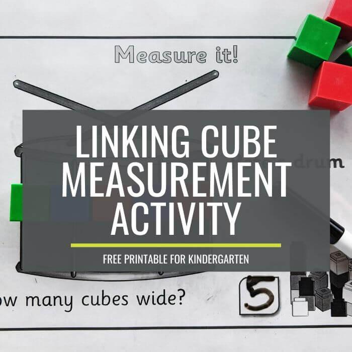 Free Linking Cube Measurement Activity for Kindergarten