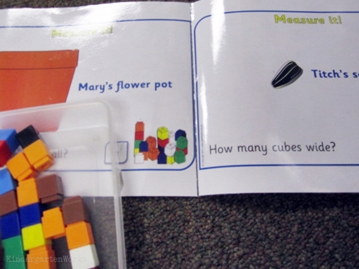 How to make an easy measurement activity for kindergarten to go along with the book 'Titch' by Pat Hutchins