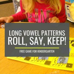 Long Vowel Patterns Roll Say Keep Game